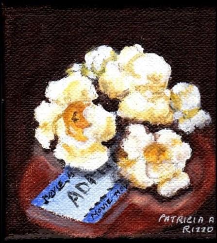 """""""Popcorn and a Movie"""" original fine art by Patricia Ann Rizzo"""
