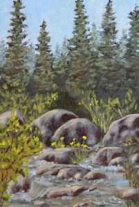 """James Mountain Stream"" original fine art by Robert Frankis"