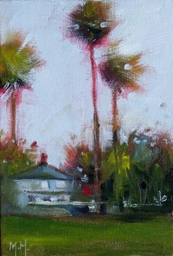 """Palm House"" original fine art by Mary Hubley"