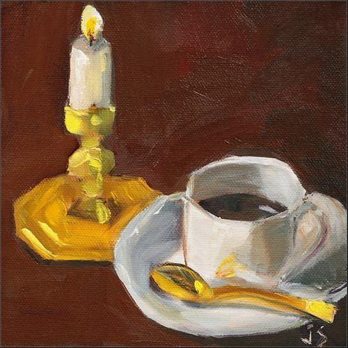 """""""Wonderful Day, Delightful Night"""" original fine art by Johnna Schelling"""