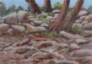 """Along the Notley"" original fine art by Robert Frankis"