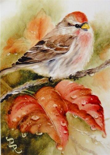 """All Wet"" original fine art by Paulie Rollins"