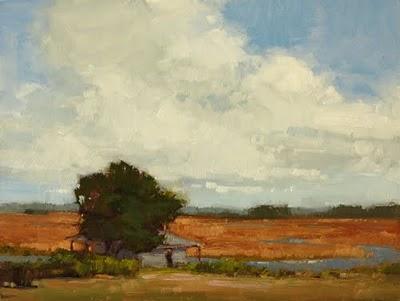 """Creek Stop"" original fine art by Laurel Daniel"