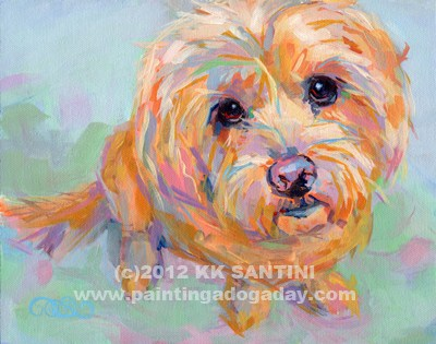 """Tucker"" original fine art by Kimberly Santini"