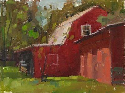 """Summer Barn"" original fine art by Carol Marine"