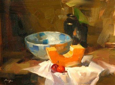 """Demo at Austin 2 --- Sold"" original fine art by Qiang Huang"