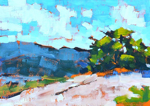 """Laguna Canyon Landscape Painting"" original fine art by Kevin Inman"