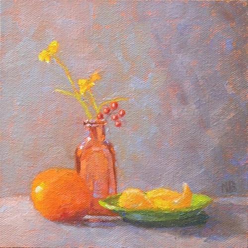 """""""Morning Oranges"""" original fine art by Nina Brodsky"""