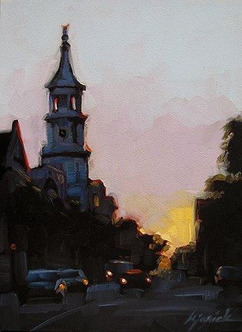 """Charleston Dusk"" original fine art by Karin Jurick"