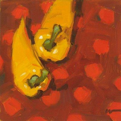 """Polka-dot Two Step"" original fine art by Carol Marine"