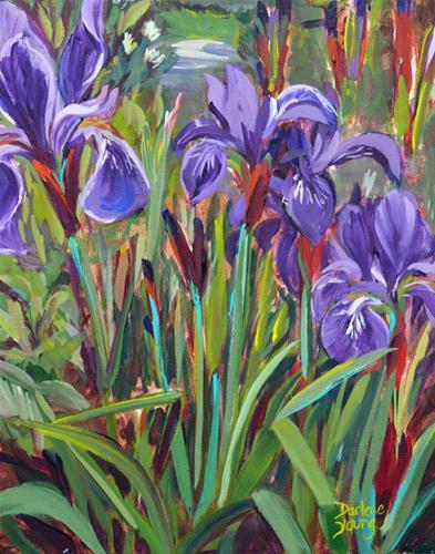 """James Bay Irises"" original fine art by Darlene Young"