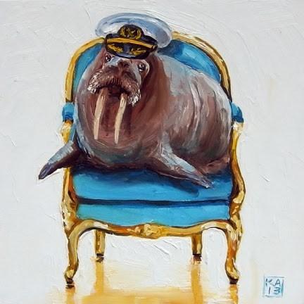 """anchors aweigh"" original fine art by Kimberly Applegate"