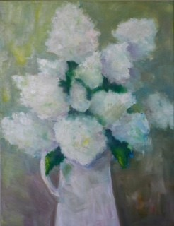 """Hydrangea"" original fine art by Maggie Flatley"