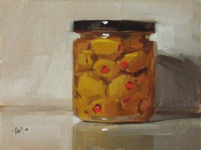 """Olive Juice - nfs & update"" original fine art by Carol Marine"
