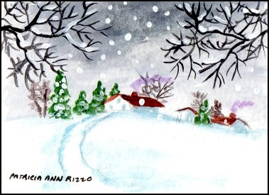 """Let it Snow"" original fine art by Patricia Ann Rizzo"