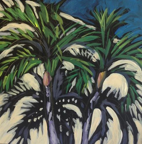 """Two Palms, Indian Rocks Beach"" original fine art by Kat Corrigan"