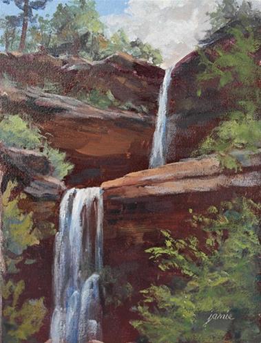 """Kaaterskill Falls Late Morning"" original fine art by Jamie Williams Grossman"