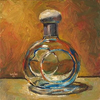 """Tequila Bottle"" original fine art by Raymond Logan"