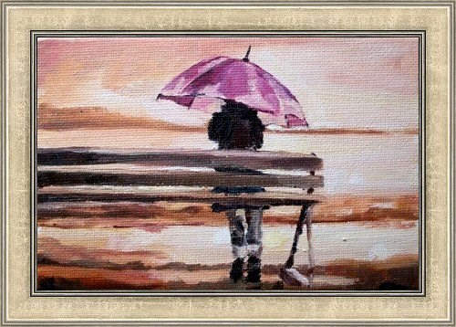 """Shelter from the Storm"" original fine art by Nava Judith"