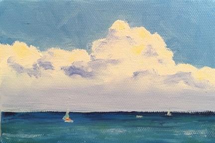"""Lake Michigan"" original fine art by Maria McNitt"