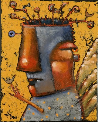 """Guardian Angel Of The Scatterbrained"" original fine art by Brenda York"