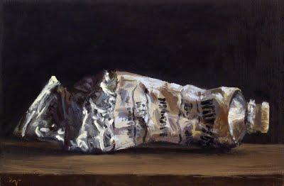 """Paint tube No. 5"" original fine art by Abbey Ryan"