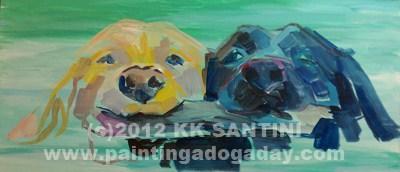 """Stick It, In Process"" original fine art by Kimberly Santini"