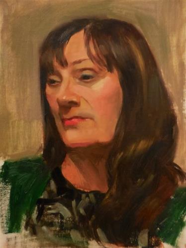 """Marci"" original fine art by Kathy Weber"
