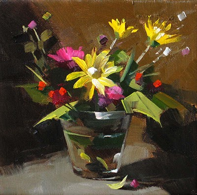 """Spring Colors"" original fine art by Qiang Huang"