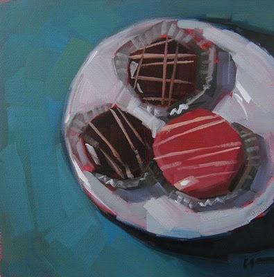 """Little Cakes"" original fine art by Carol Marine"