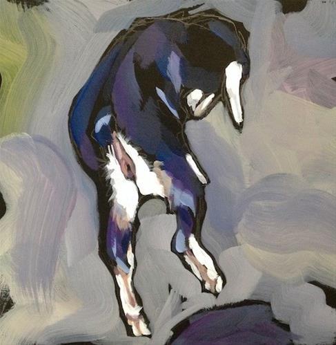 """Frolicking Kid"" original fine art by Kat Corrigan"