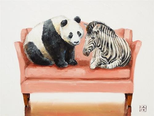 """i like your style"" original fine art by Kimberly Applegate"