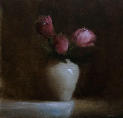 """Three Roses"" original fine art by Neil Carroll"