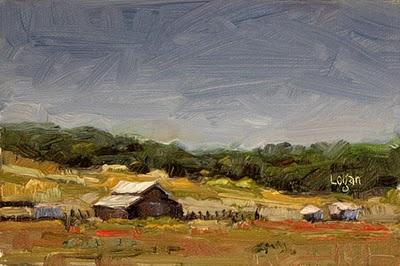 """Barn off Corbett Canyon Road"" original fine art by Raymond Logan"