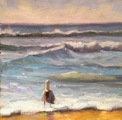 """Fish in the Sea"" original fine art by Deborah Newman"
