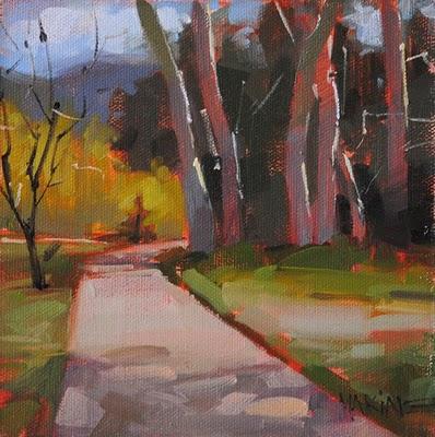 """Crescent Moon Park"" original fine art by Carol Marine"
