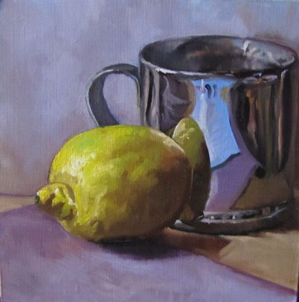 """33 - Lemon with Cup"" original fine art by Edward Watson"