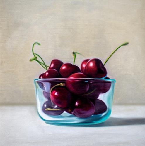 """Bowl of Cherries"" original fine art by Lauren Pretorius"