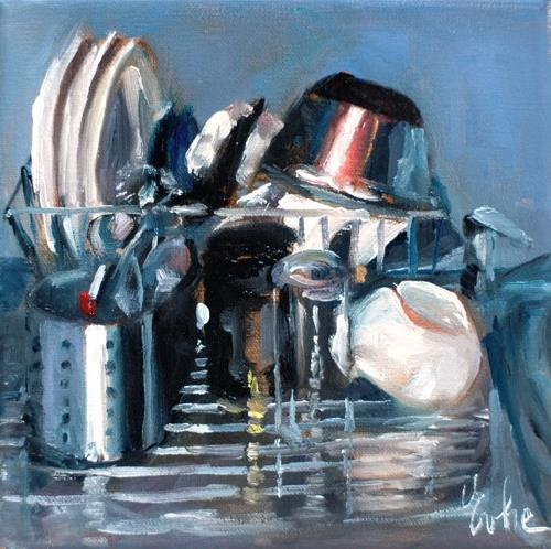 """la vaisselle"" original fine art by Evelyne Heimburger Evhe"