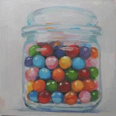 """Gumballs"" original fine art by Merle Manwaring"