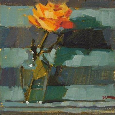 """""""A Rose Note --- SOLD"""" original fine art by Carol Marine"""