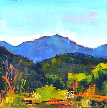 """""""Another Temecula Landscape"""" original fine art by Kevin Inman"""
