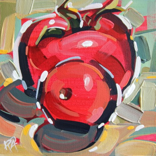 """""""Playful Tomato Abstraction 2"""" original fine art by Roger Akesson"""
