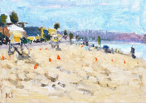 """""""Pacific Beach Painting"""" original fine art by Kevin Inman"""