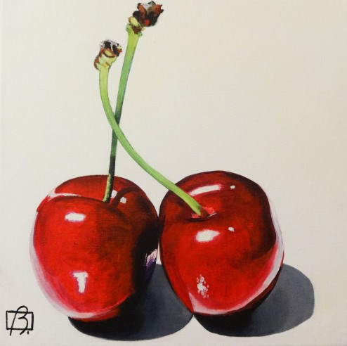 """""""Fresh Cherries"""" original fine art by Andre Beaulieu"""