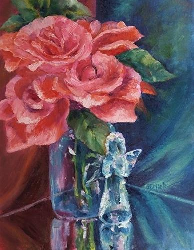 """Mother's Angel, 11 x 14 Oil, Still Life"" original fine art by Donna Pierce-Clark"