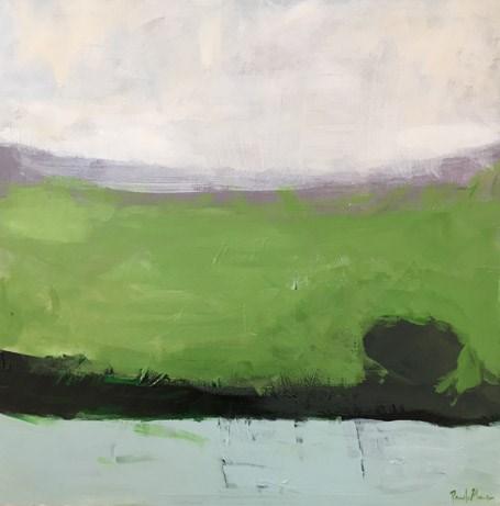"""""""Green Land"""" original fine art by Pamela Munger"""