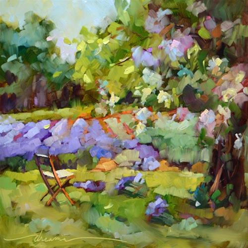 """""""Gathering Lavender"""" original fine art by Dreama Tolle Perry"""
