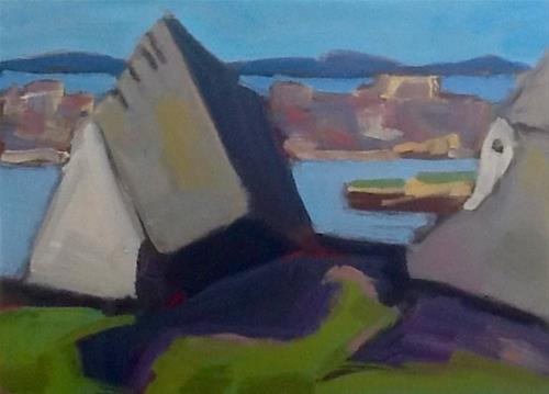 """Halibut Point Abstracted #1"" original fine art by Elizabeth Bish"
