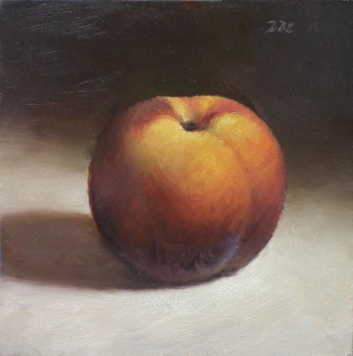 """Sweet Summer Peach"" original fine art by Debra Becks Cooper"